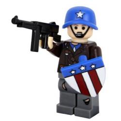 Capitán América con casco -...